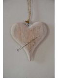 1 coeur bois naturel 10cm