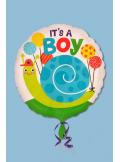 1 ballon hélium ESCARGOT boy