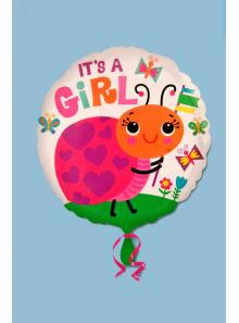 1 ballon hélium COCCINELLE girl