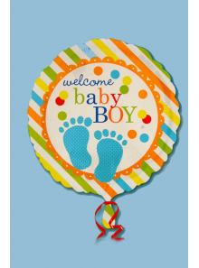 1 ballon hélium welcome baby BOY