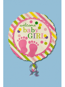 1 ballon hélium welcome baby GIRL