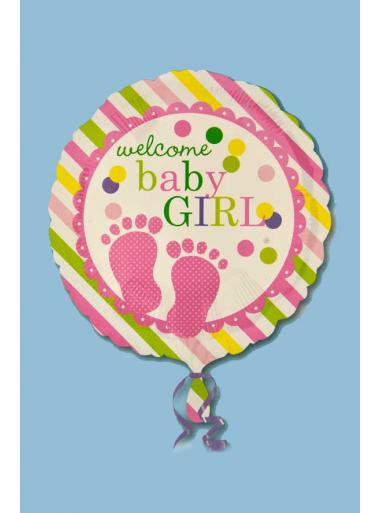 1 ballon hélium welcome baby GIRL