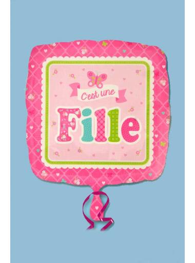 1 ballon hélium c'est une FILLE