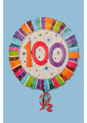 1 ballon hélium anniversaire 100