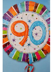 1 ballon hélium anniversaire 90