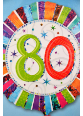 1 ballon hélium anniversaire 80