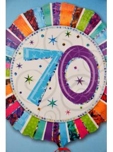1 ballon hélium anniversaire 70