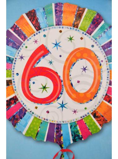 1 ballon hélium anniversaire 60