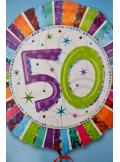 1 ballon hélium anniversaire 50