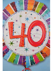 1 ballon hélium anniversaire 40