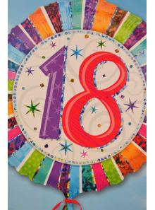 1 ballon hélium anniversaire 18