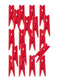 24 Pinces à linge ROUGE