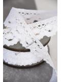 5M dentelle LINETTE festonnée blanche