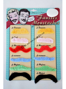 1 kit 12 MOUSTACHES velours pour photobooth