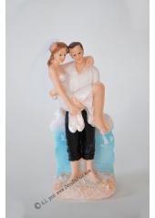 1 couple de mariés à la plage