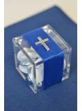 12 croix argent à coller