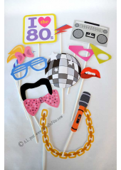1 kit photobooth 80's