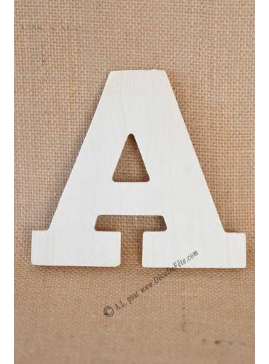 1 lettre bois A 12cm