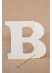 1 lettre bois B 12cm