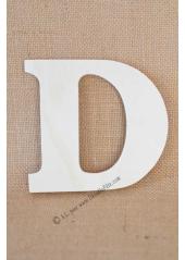 1 lettre bois D 12cm