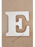 1 lettre bois E 12cm