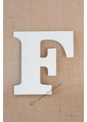 1 lettre bois F 12cm