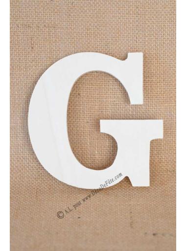 1 lettre bois G 12cm