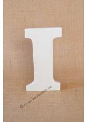 1 lettre bois I 12cm