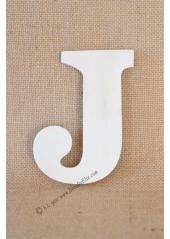 1 lettre bois J 12cm