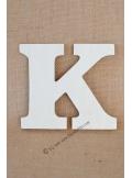 1 lettre bois K 12cm
