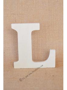 1 lettre bois L 12cm