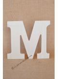1 lettre bois M 12cm
