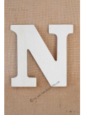 1 lettre bois N 12cm