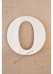 1 lettre bois O 12cm