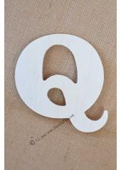 1 lettre bois Q 12cm