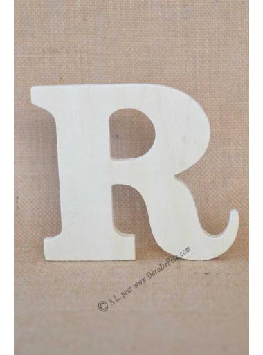 1 lettre bois R 12cm