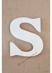 1 lettre bois S 12cm