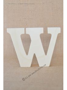 1 lettre bois W 12cm
