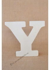 1 lettre bois Y 12cm