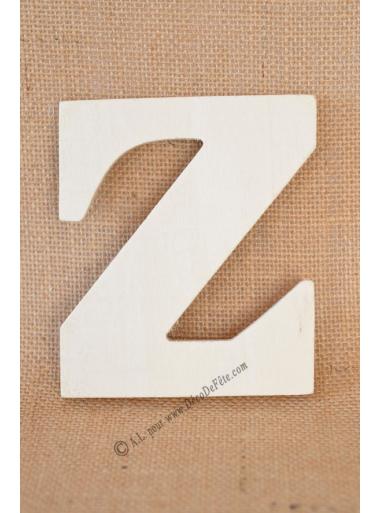 1 lettre bois Z 12cm