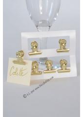 6 Pinces clip OR retro