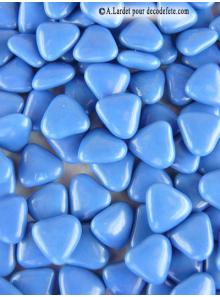 150g Petits coeurs bleu océan