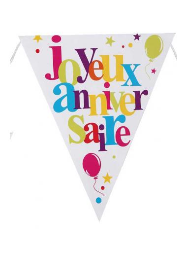 1 banderole fanion JOYEUX anniversaire multicolore