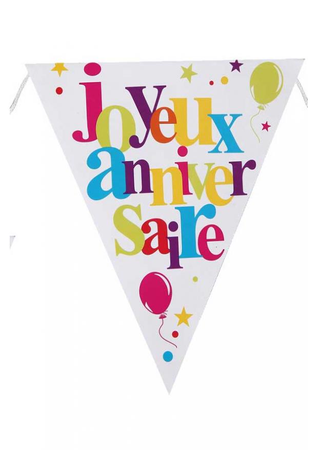 Bevorzugt 1 banderole fanion joyeux anniversaire YU11