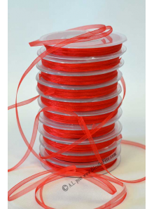50m Ruban rouge 3mm organdi