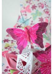 2 papillons fantasia fushia