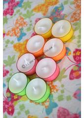 8 Bougies chauffe plat pastel