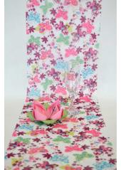 5M Chemin de table papillons rose