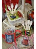 10 fourchettes bois bambou