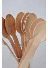 12 cuillères bois bambou